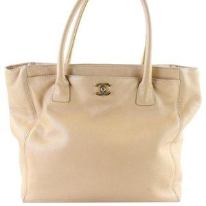 Chanel Beige Caviar Leather Cerf Tote 5CR0105